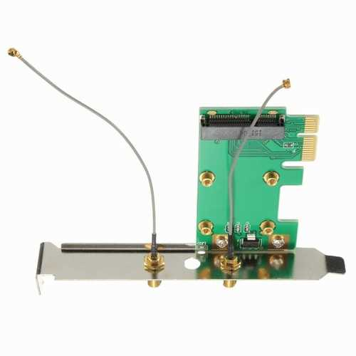 Mini WiFi Wan 802.11n PCI-e to PCI-e Wireless Expansion Card Adapter Convertor