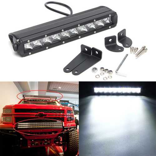12Inch 50W Single Row LED Spot Work Light Bar 4WD Off Road 4x4 For Truck SUV