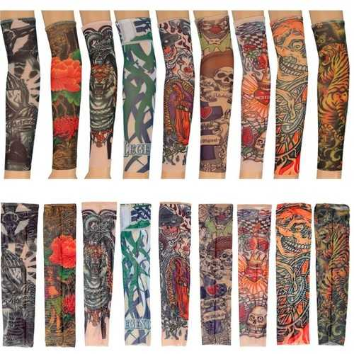Temporary Tattoo Sleeves Kid Child Arm Stockings Nylon Stretchy