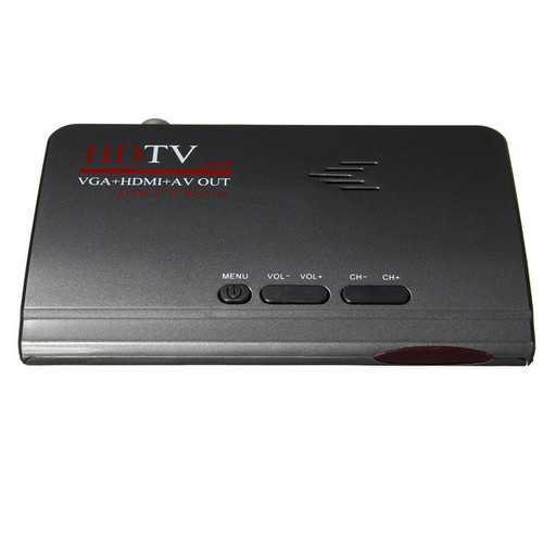 Digital Terrestrial HD 1080P DVB-T/T2 TV Box VGA AV CVBS Tuner Receiver With Remote Control