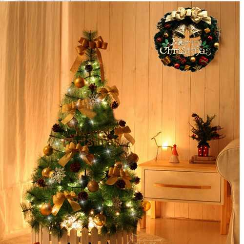 30cm Christmas Ball Bell Garland Merry Christmas Wreath Door Wall Christmas Decoration