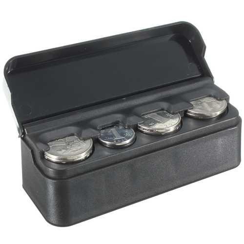 Car Interior Plastic Coin Case Storage Stored Box Holder Container Organizer