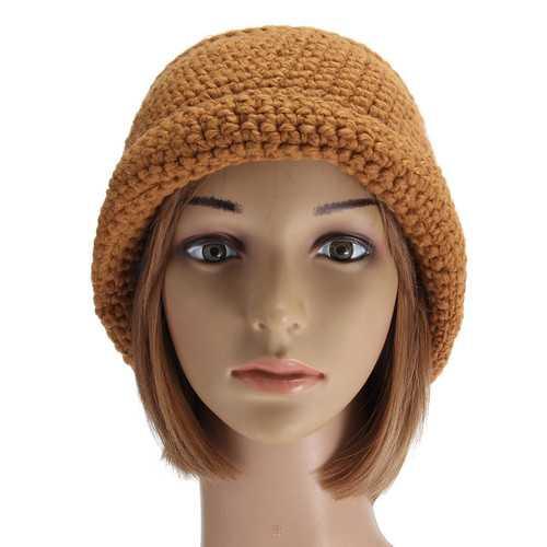 Women Ladies Slouch Baggy Woolen Yarn Crochet Beanie Hat Winter Warm Knitted Cap