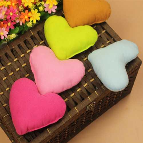 1PCS Heart Shape Soft Cozy Plush Little Pillow Decorations Pet Dog Puppy Cat Toy
