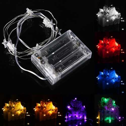 1M 10 LED Battery Powered Star String Fairy Light For Chirstmas Party Weddinng Decor