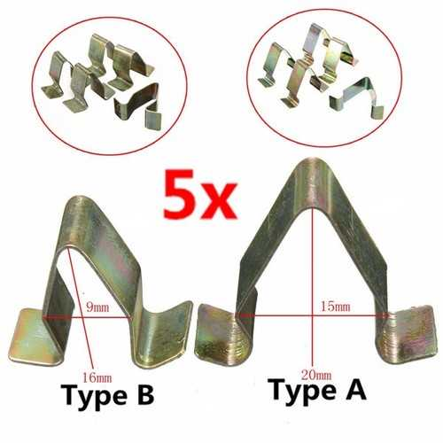 5Pcs Metal Trim Panel Lining Clips Interior Upholstery For VW Audi Seat Skoda