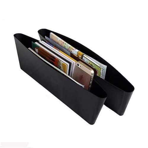 2Pcs Car Seat Crevice Storage Box Organizer Case Protect Catch Catcher Caddy Slit Pocket