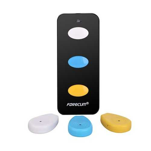 Forecum 3-in-1 Remote Wireless Anti Lost Electronic Key Wallet Finder Alarm