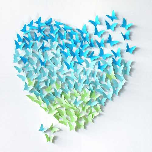 12Pcs 4 Colors 3D Butterfly Art Decals Room Wall Stickers Home Wall Window Door Decorations Decor Gift