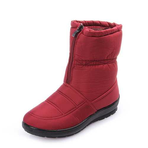 Big Size Women Winter Keep Warm Snow Waterproof Boots Cotton Boots Plush Warm Boots