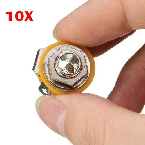 10 X 6.35mm TRS Microphone Audio Panel Seat 2 CH Stereo Female Socket Set