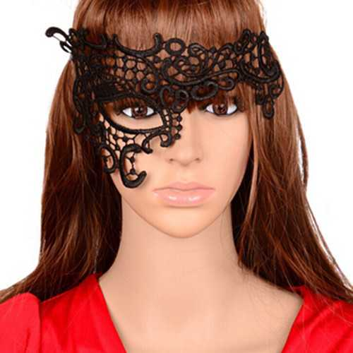 Sexy Black One Right Eye Masquerade Lace Party Mask