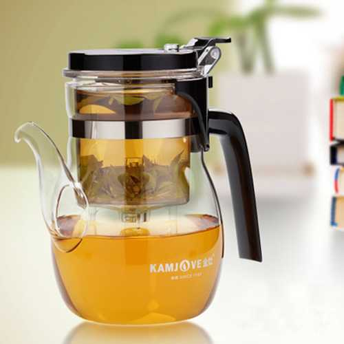 Crystal Clear Tea Glass Pot Tea Leaves Filtration Tea Pot Set