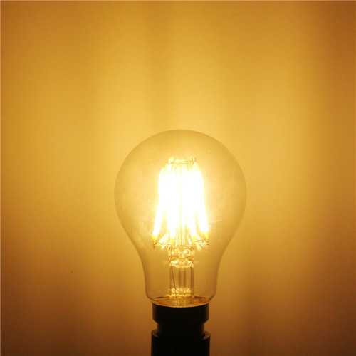 B22 A60 8W LED COB Filament Bulb Eison Vintage Clear Glass Lamp Non-dimmable AC 220V