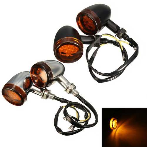 12V Motorcycle Skull Turn Signal Lights For Harley Davidson Softail Cross Bones