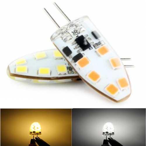 G4 2W 12 SMD2835 LED Household Light Dimmable Lamp White/Warm White AC/DC12V
