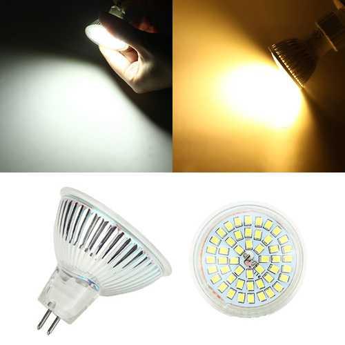 MR16 4W LED Bulb 350lm 48 SMD 2835 Pure White/Warm White Spotlight Lamp AC/DC 12V