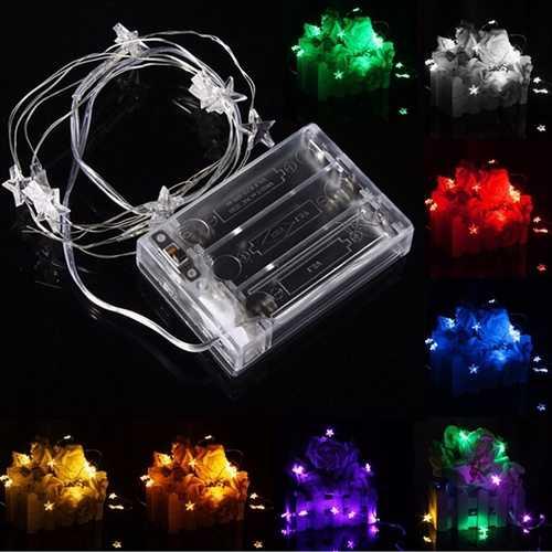 2M 20 LED Battery Powered Star String Fairy Light For Christmas Party Weddinng Decor