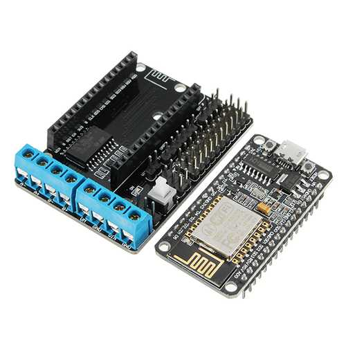 (Wifi Car Dedicated) NodeMcu Lua ESP8266 ESP-12E + WiFi Motor Drive Expansion Board