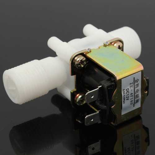 0-0.01MPa 12V Electric Solenoid Valve Magnetic DC Normal Closed Water Air Inlet Flow Switch 1/2""