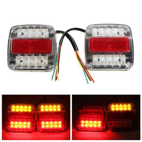 12V LED Caravan Truck Trailer Stop Rear Tail License Plate Indicator Lamp