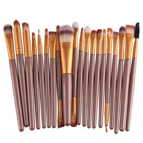 20Pcs Professional Makeup Brush Cosmetic Synthetic Hair Brus