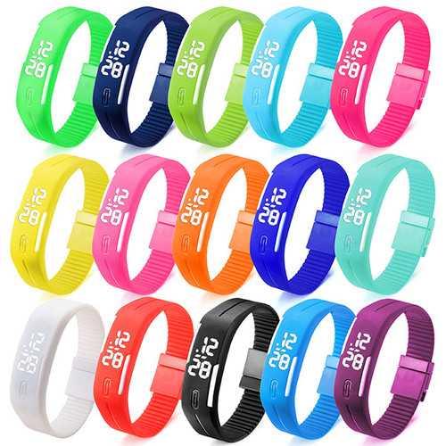 B4A Unisex Casual LED Rectangle Sport Digital Bracelet Watch