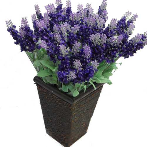 10 Heads Artificial Lavender Silk Flower Charismatic Bouquet Wedding Home Decoration