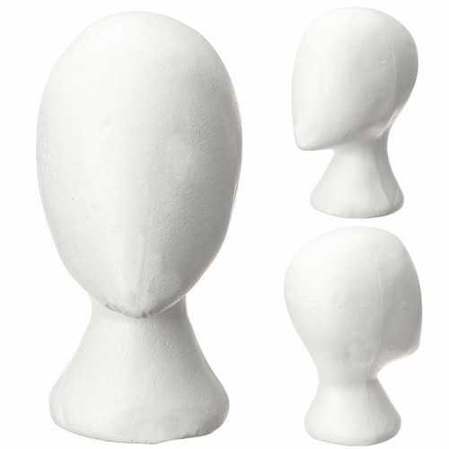 Female Styrofoam Foam Head Model Mannequin Hair Wig Stand Display Reading Glass Holder