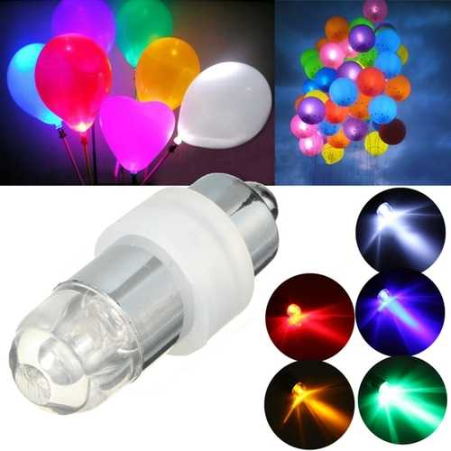 Mini Waterproof LED Balloon Light Bulb Colorful Wedding Birthday Party Decor