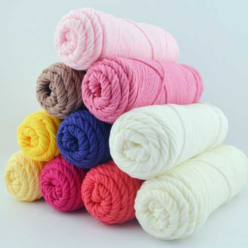 100g 23 Colors Long Stalped Cotton Soft Knitting Wool Yarn 8 Plied Yarn Scarf Hat Swater Yarn Ball