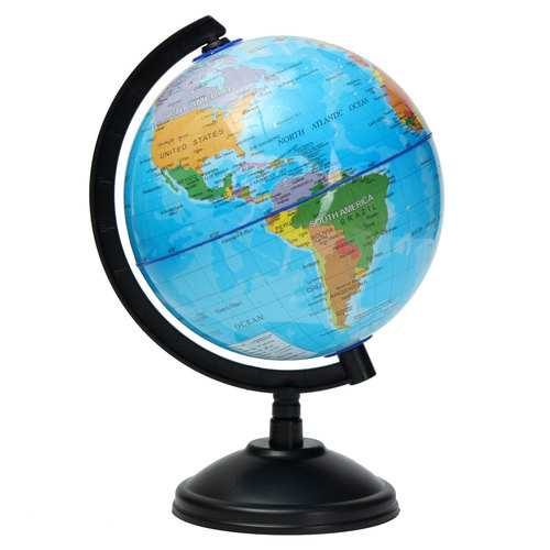 14cm World Globe Atlas Map With Swivel Stand Geography Educational Toy Kids Gift