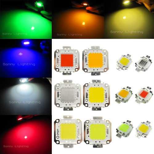 100W DC32-36V High Power LED Chip Light Lamp Blue/Green/Red/Amber Home Car For DIY