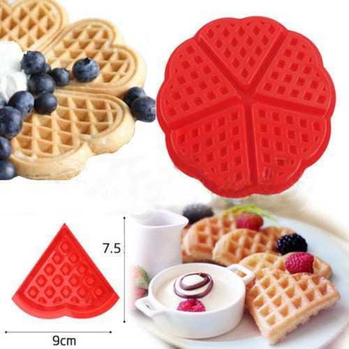 Heart Love Shape Silicone Waffle Mold Mould Cake Baking Mold