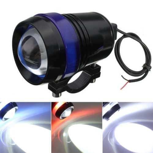 12V 30W Motorcycle U3 LED Angel Eye Driving Fog Spot Headlights Hi/Lo Flash Lamp