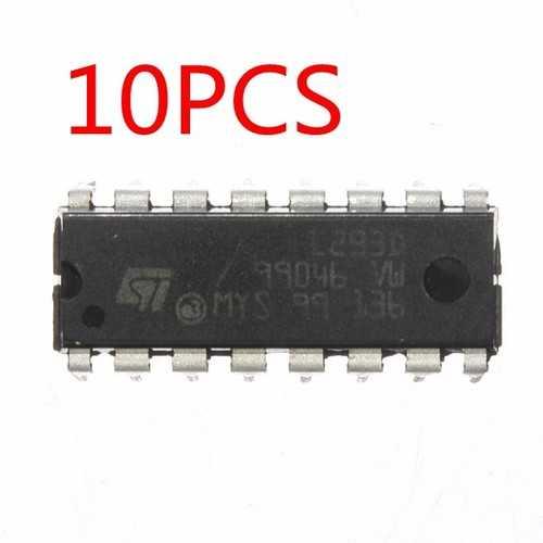10Pcs L293D L293 L293B DIP / SOP Push Pull Four Channel Motor Driver IC
