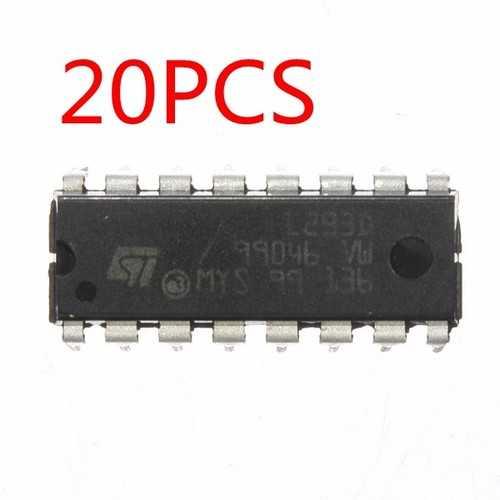 20Pcs L293D L293 L293B DIP / SOP Push Pull Four Channel Motor Driver IC