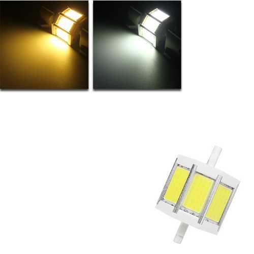 Dimmable R7S 78MM 10W COB SMD White/Warmwhite LED Flood Light Spot Corn light Lamp Bulb AC 85-265V