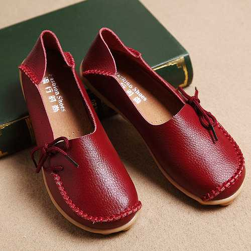 Breathable Casual Leather Flats Shoes