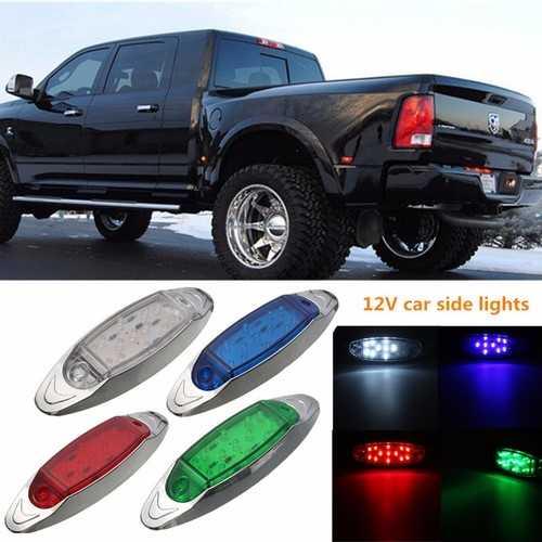 12V Car Side Lights F5 Straight Bulb 13 Lamp Beads Truck edge Warning Lamp