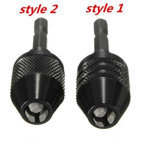 0.6-6.5mm Keyless Drill Chuck 1/4 Inch Hex Shank Drill Screwdriver Impact Driver Adaptor