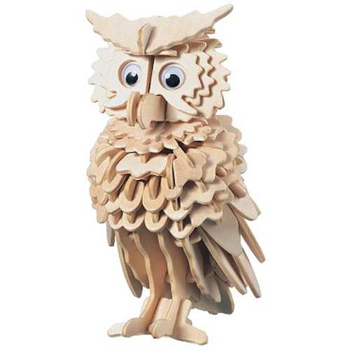 3D Wooden Owl Puzzle Jigsaw Children Kids Toy Pre Cut Wooden Shapes Model