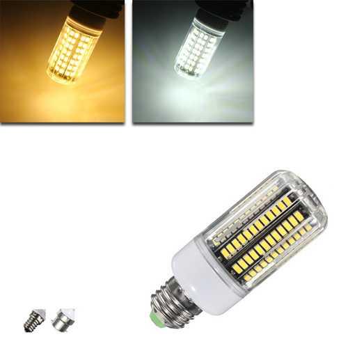 E14 B22 E27 LED Bulb 12W 136  SMD 5733 1500LM LED Cover Corn Light Lamp Bulb AC 220V