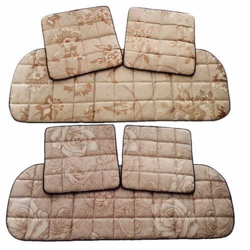 3Pcs Car Ice Silk Bamboo Charcoal Summer Seat Cushion Non Slip 45*45CM 135*45CM