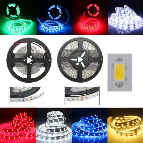 1M 60LEDS SMD 5630 Flexible LED Strip Home Decoration Counter Light Waterproof DC 12V