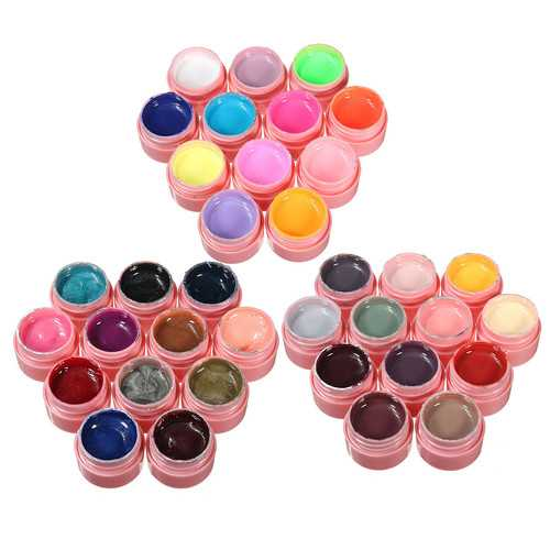 12 Pure Colors Nail Art UV Gel Polish Builder Extension Manicure Kit