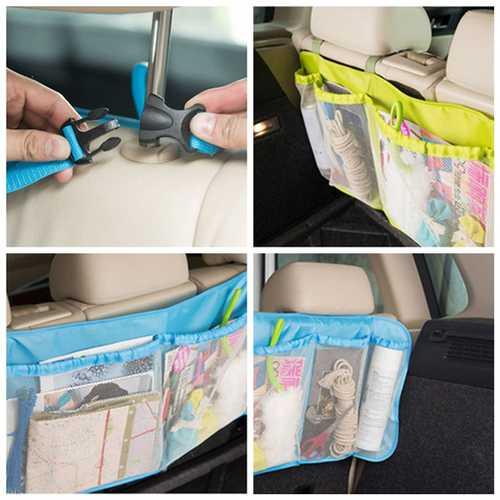 Adjust Car Seat Back Tidy Organiser Multi Pocket Travel Storage Bag Holder Hanging