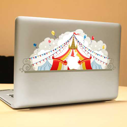 PAG Circus Decorative Laptop Decal Removable Bubble Free Self-adhesive Partial Color Skin Sticker