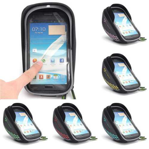 Bike Bicycle Frame Bag Phone Case Clear Handlebar Bags Pannier Holder Touch Screen Bag