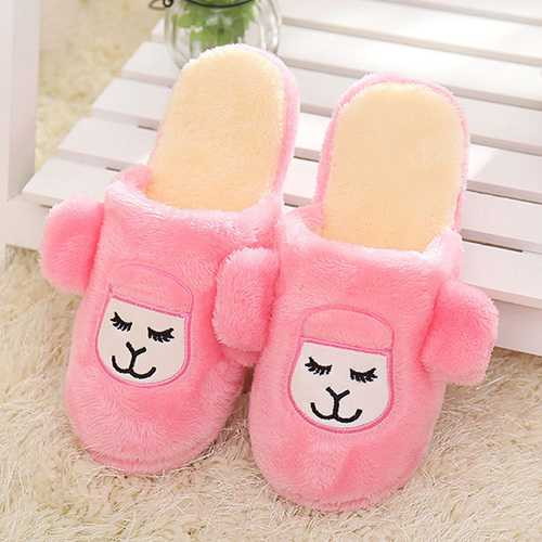 Unisex Casual Indoor Shoes Cartoon Cotton Warm Home Shoes